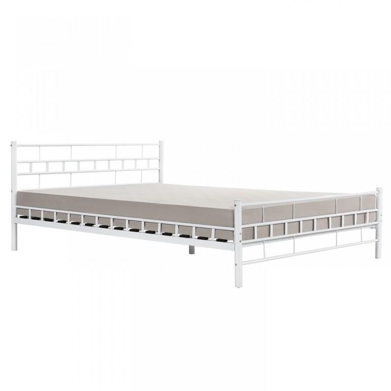 Kovová postel Malta 140 x 200 cm | bílá