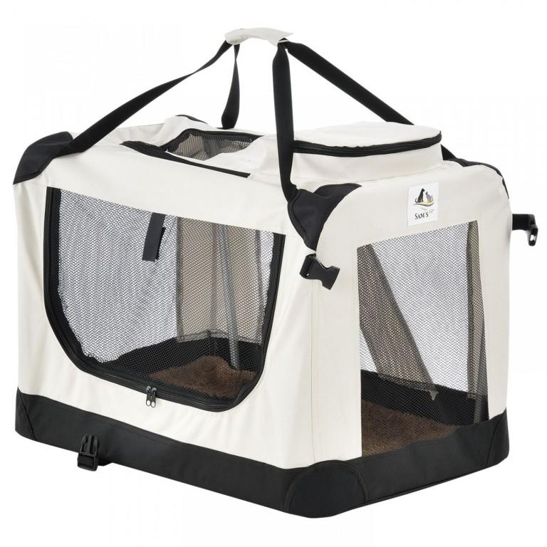 Přepravní box pro psy Lassie 82 x 58 x 58 cm | krémový