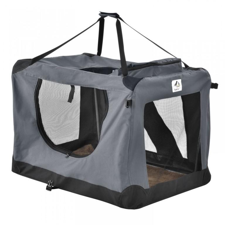 Přepravní box pro psy Lassie 82 x 58 x 58 cm | šedý