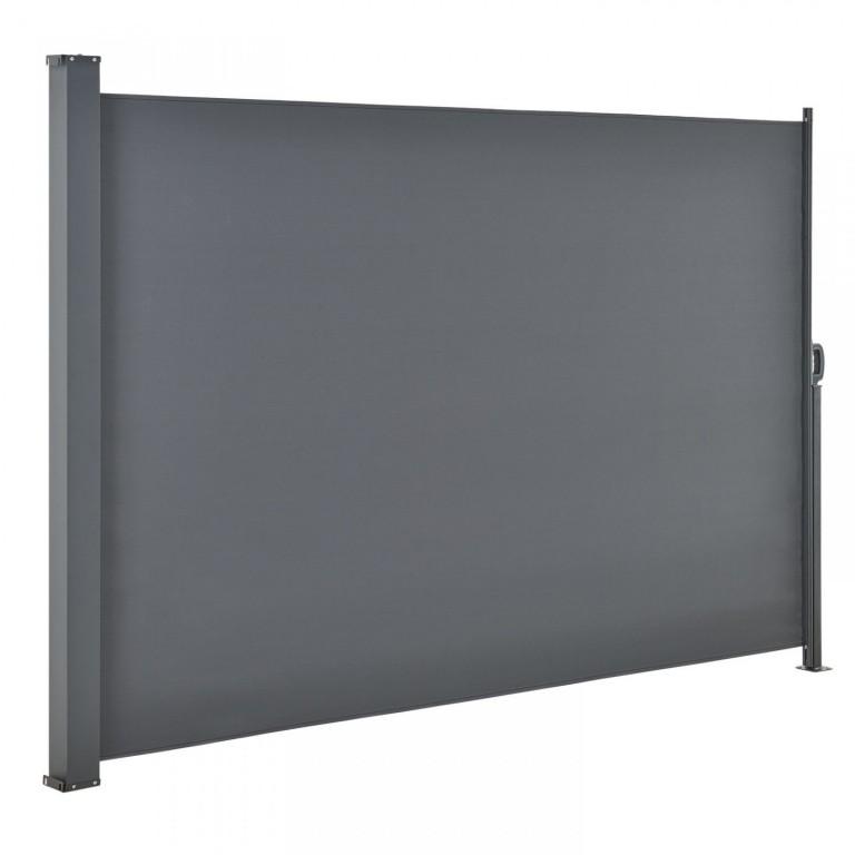 Venkovní boční markýza na zastínění terasy 180 x 300 cm | tmavě šedá