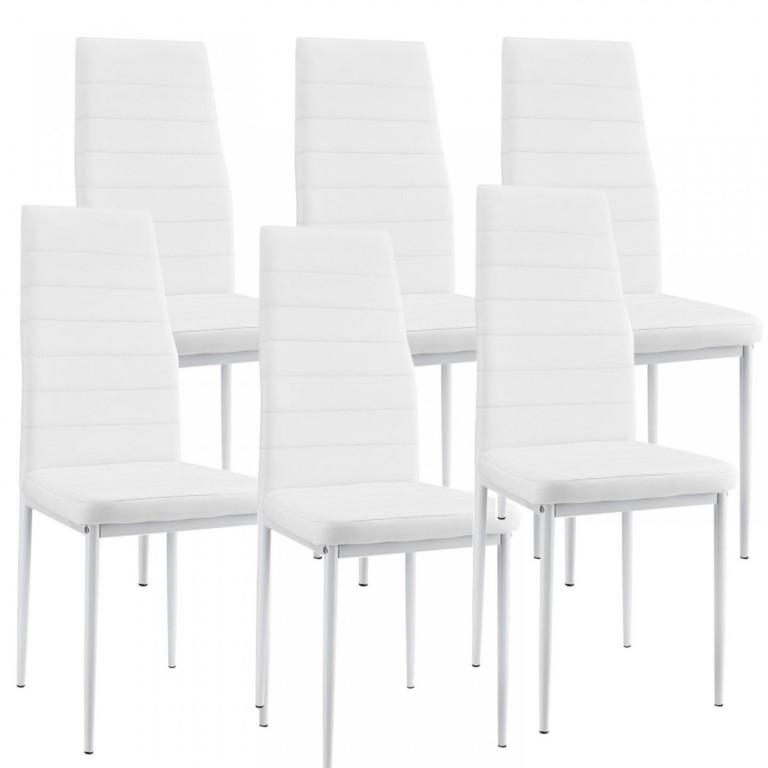Jídelní židle New York 6 ks | bílá