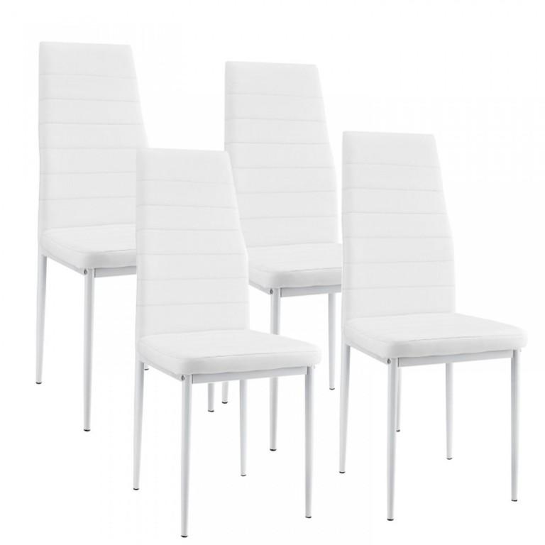 Jídelní židle New York 4 ks | bílá