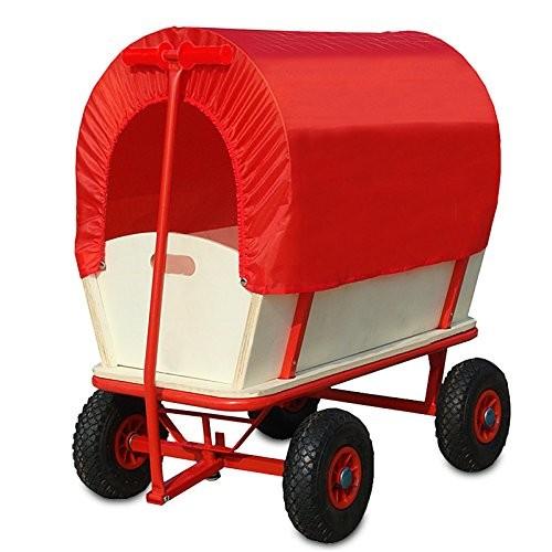 Goleto Dřevěný přepravní vozík se stříškou Retro