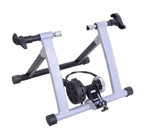 Cyklistický trenažér magnetický s regulací | černo-stříbrný