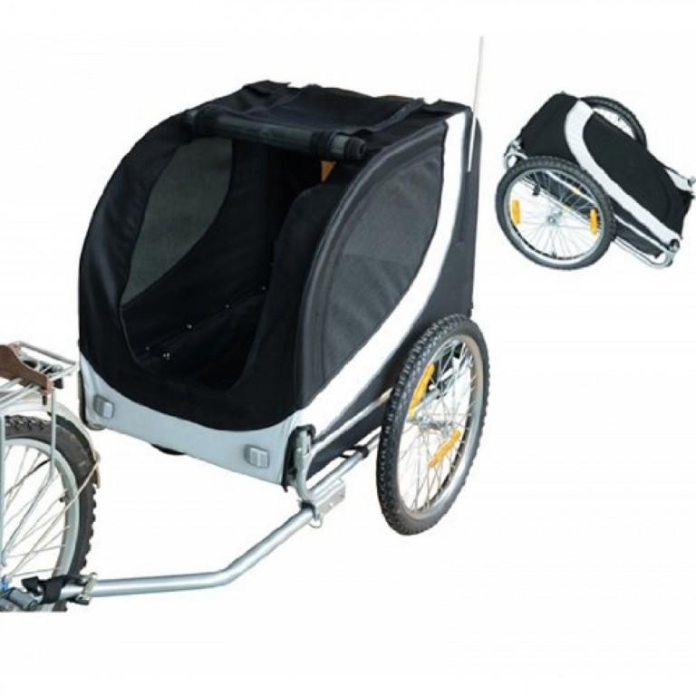 Přívěsný vozík za kolo pro psa | bílo-černý