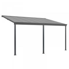 Zahradní hliníková pergola s polykarbonátem 6 x 3 m | šedá č.3