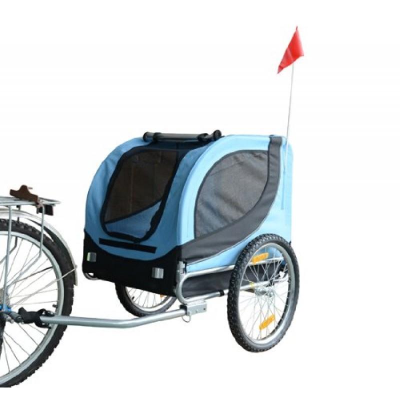 Přívěsný vozík za kolo pro psa 78 x 73 x 94 cm modro-černý