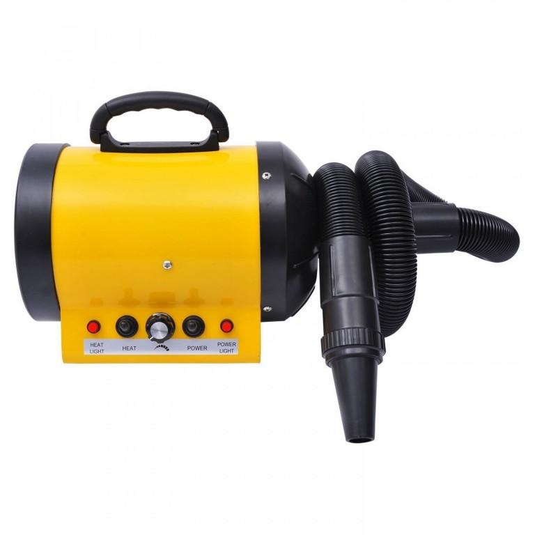 Fén pro psy s ohřívačem 2400W | žlutý