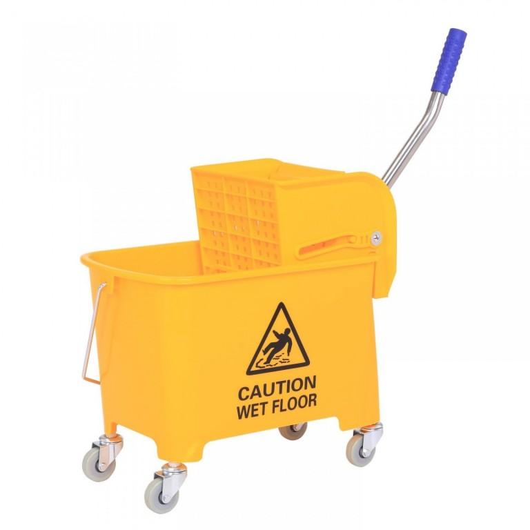 Pojízdný úklidový vozík se ždímačem 20 l