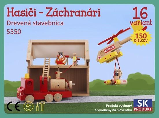 Dřevěná stavebnice Hasiči záchranáři Moy Toy