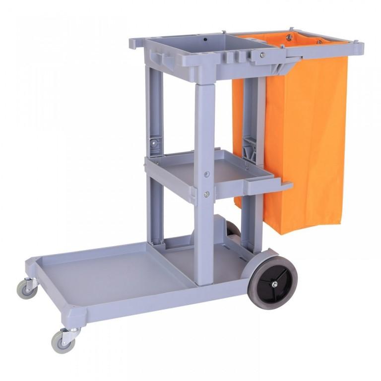 Pojízdný úklidový vozík s držákem na pytle