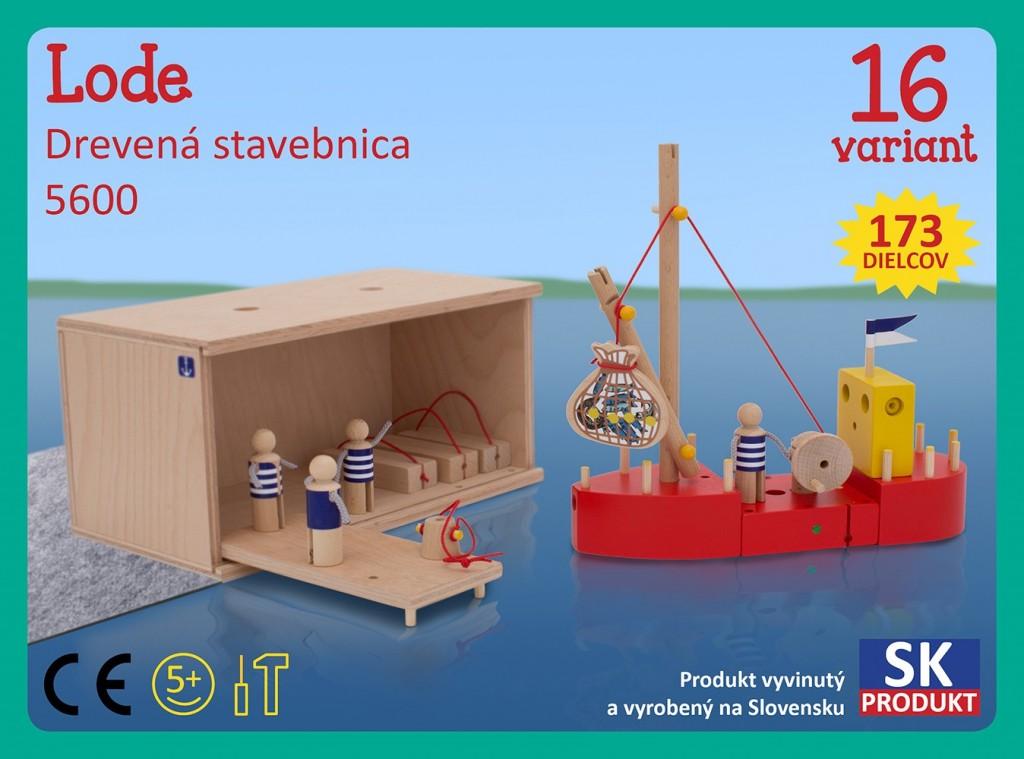 Dřevěná stavebnice Lodě Moy Toy