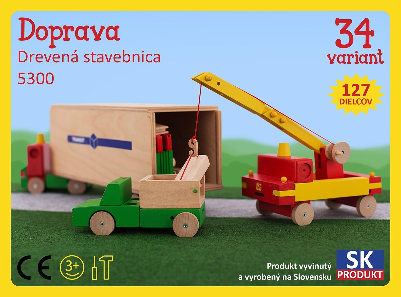 Levně Moy Toy Dřevěná stavebnice Doprava Moy Toy
