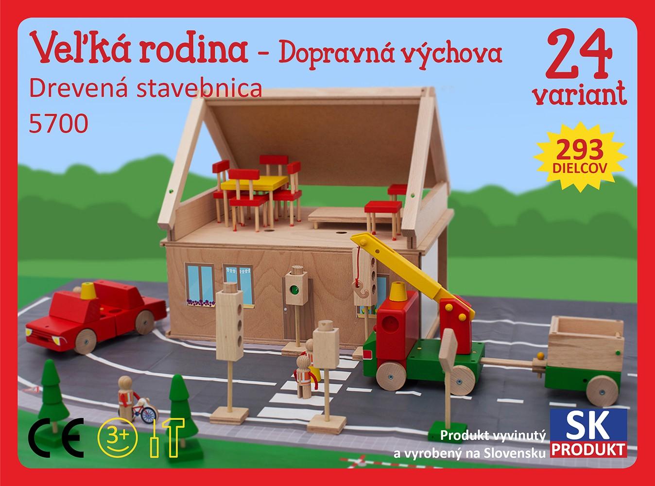 Levně Moy Toy Dřevěná stavebnice Velká rodina Moy Toy