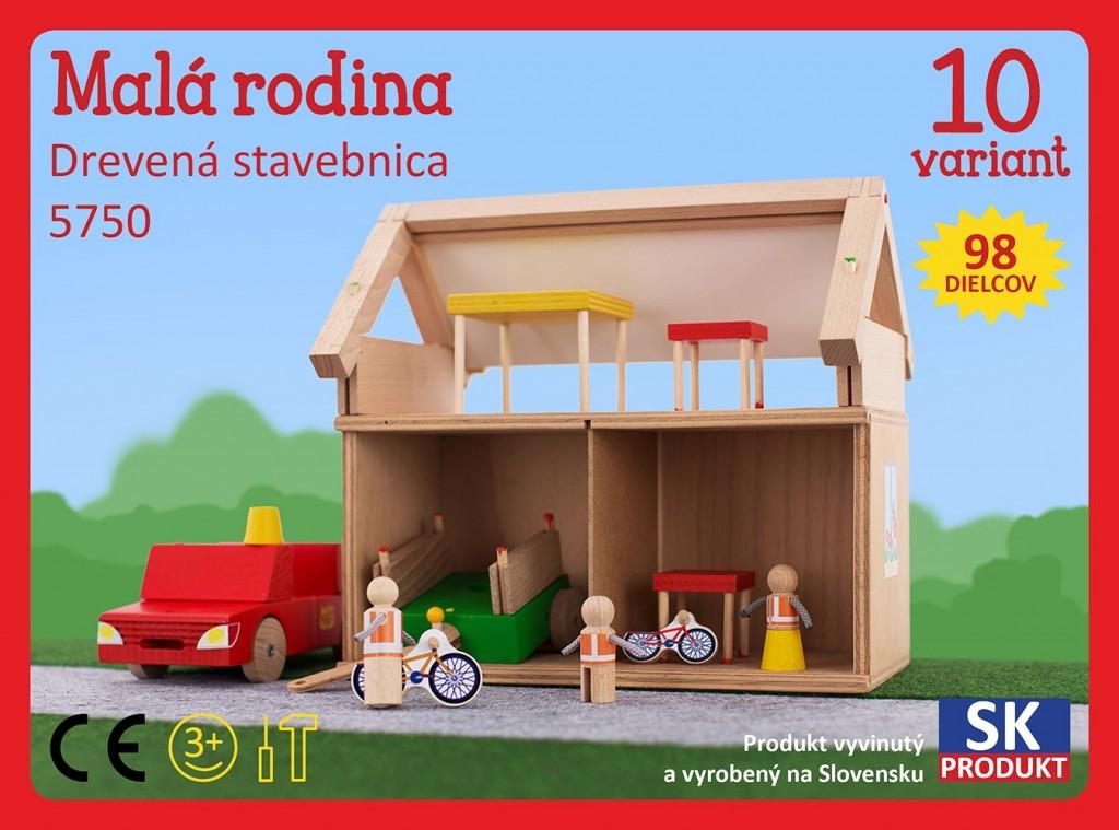 Dřevěná stavebnice Malá rodina Moy Toy