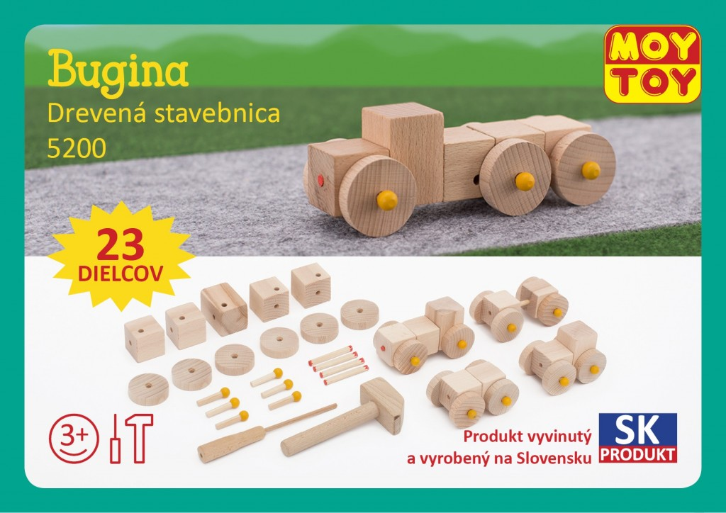 Dřevěná stavebnice Bugina Moy Toy