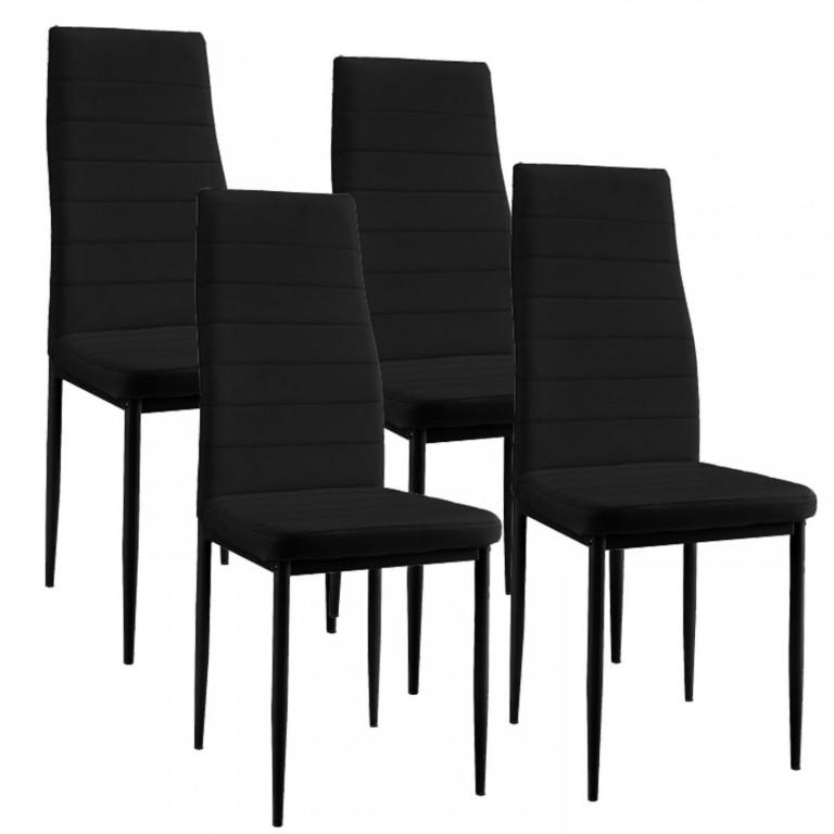 Jídelní židle New York 4 ks | černá