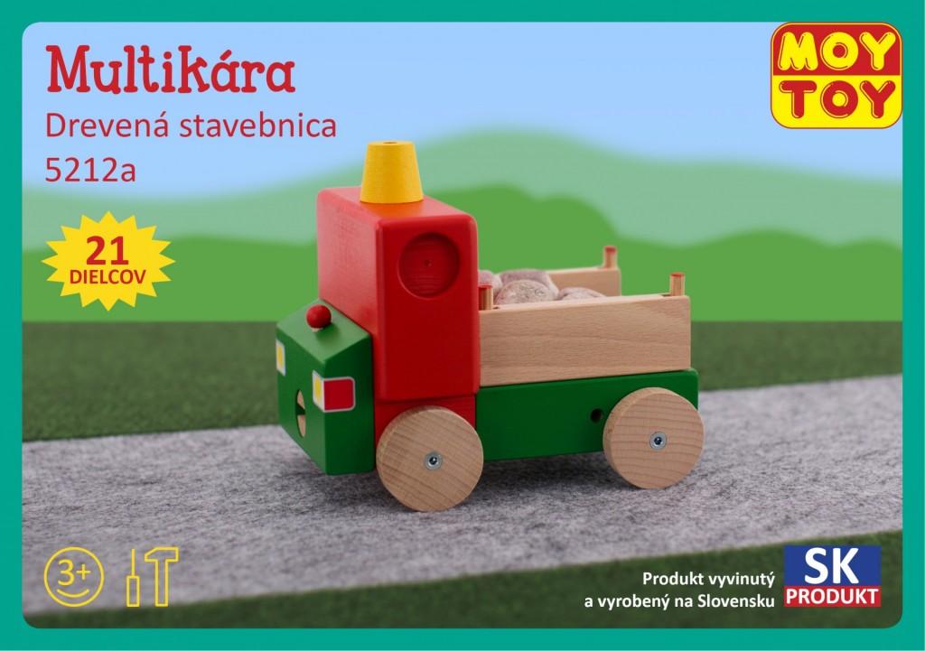 Dřevěná stavebnice Multikára Moy Toy