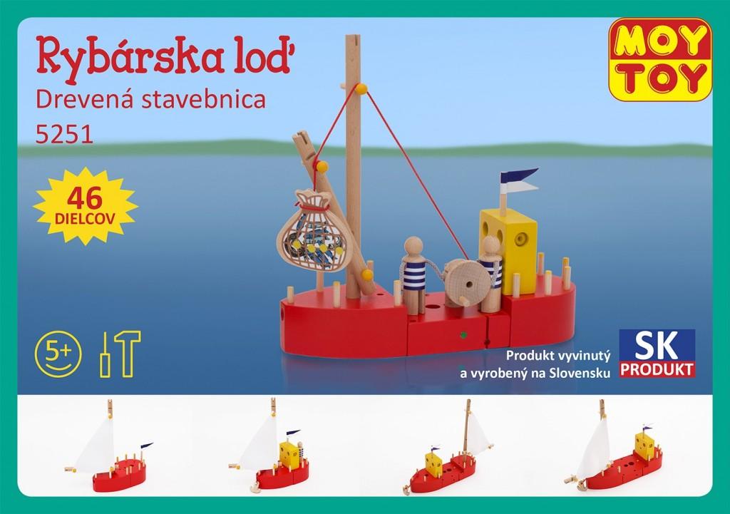 Dřevěná stavebnice Rybářská loď Moy Toy
