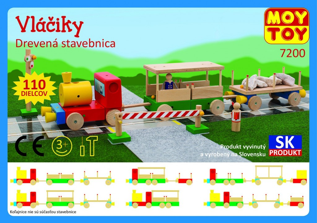 Dřevěná stavebnice Vláčky Moy Toy