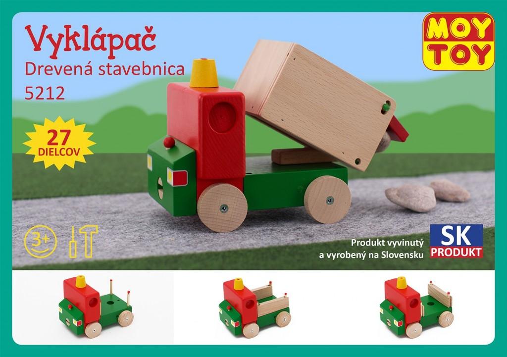 Dřevěná stavebnice Vyklápěč Moy Toy