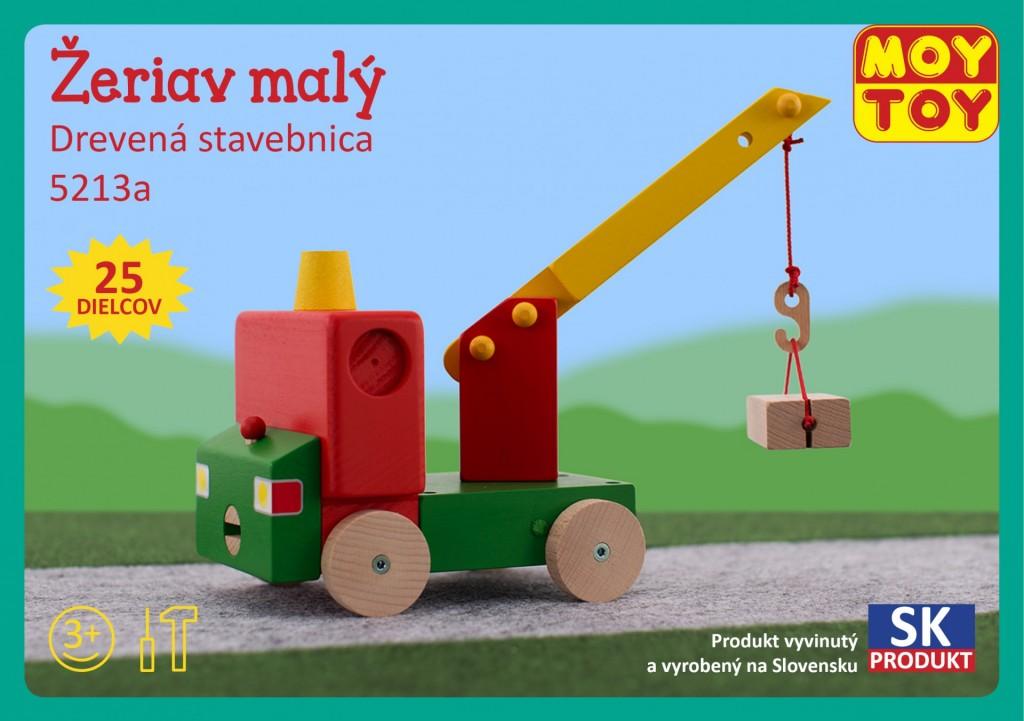 Dřevěná stavebnice Jeřáb malý Moy Toy
