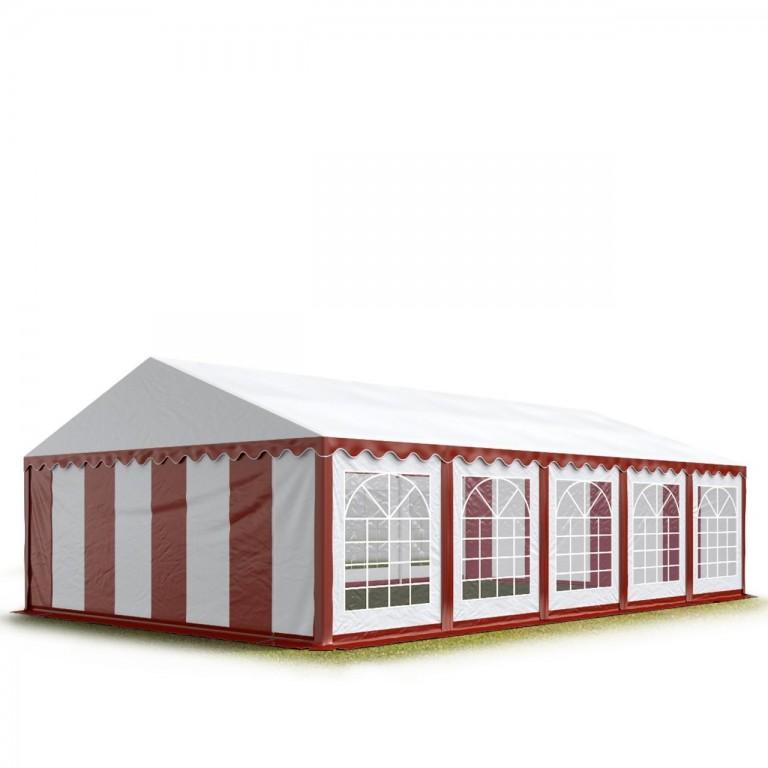 Párty stan Economy 5 x 10 m | červeno-bílý