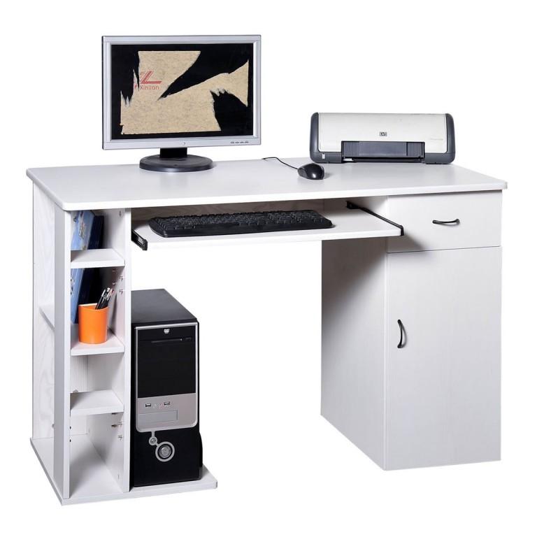 Kancelářský PC stůl 120 x 60 x 75 cm | bílý