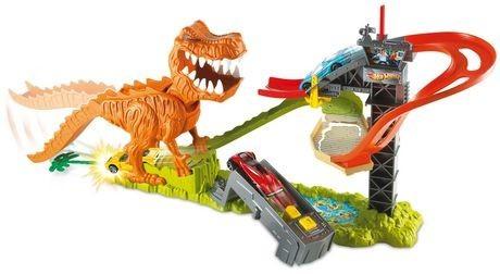 Mattel Hot Wheels Dráha T-rex se zvukem
