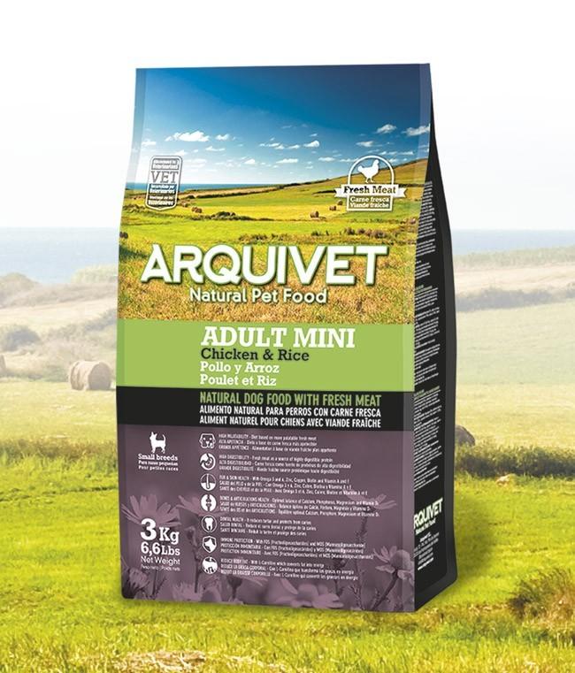Arquivet Dog Adult Mini 3 kg | čerstvé kuřecí maso s rýží