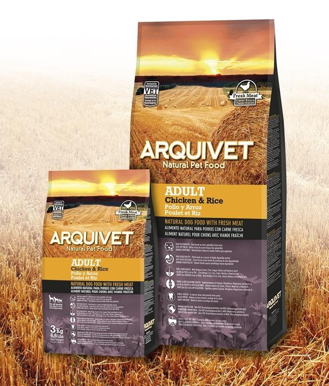 Arquivet Dog Adult 3 kg | čerstvé kuřecí maso s rýží