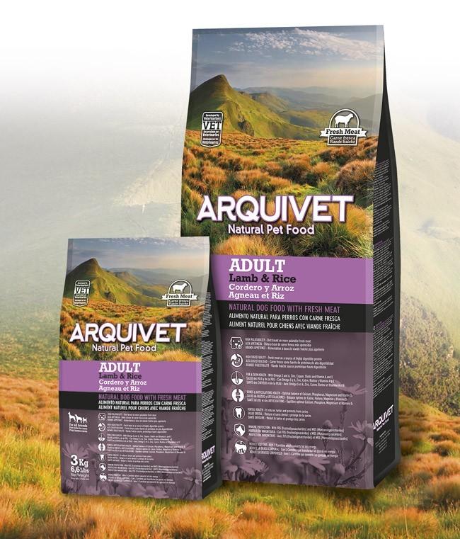 Arquivet Dog Adult 3 kg | čerstvé jehněčí maso s rýží