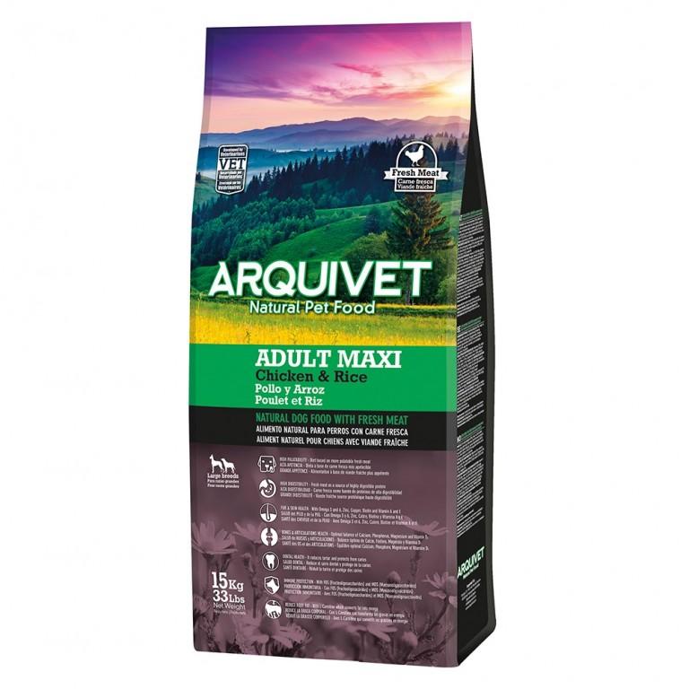 Arquivet Dog Adult Maxi 15 kg | čerstvé kuřecí maso s rýží