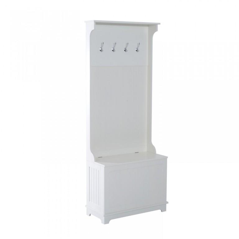 Skříňka s věšáky   bílá