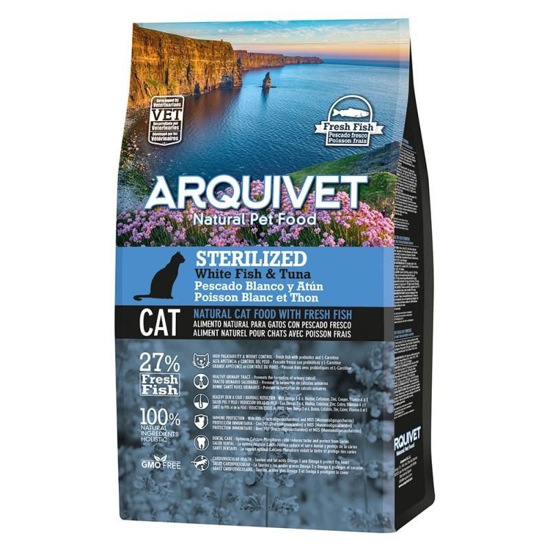 Arquivet Arquivet Cat Sterilized 10 kg | bílá ryba s tuňákem