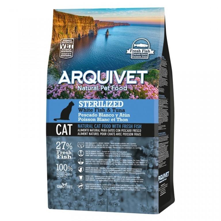 Arquivet Cat Sterilized 1,5 kg | bílá ryba s tuňákem