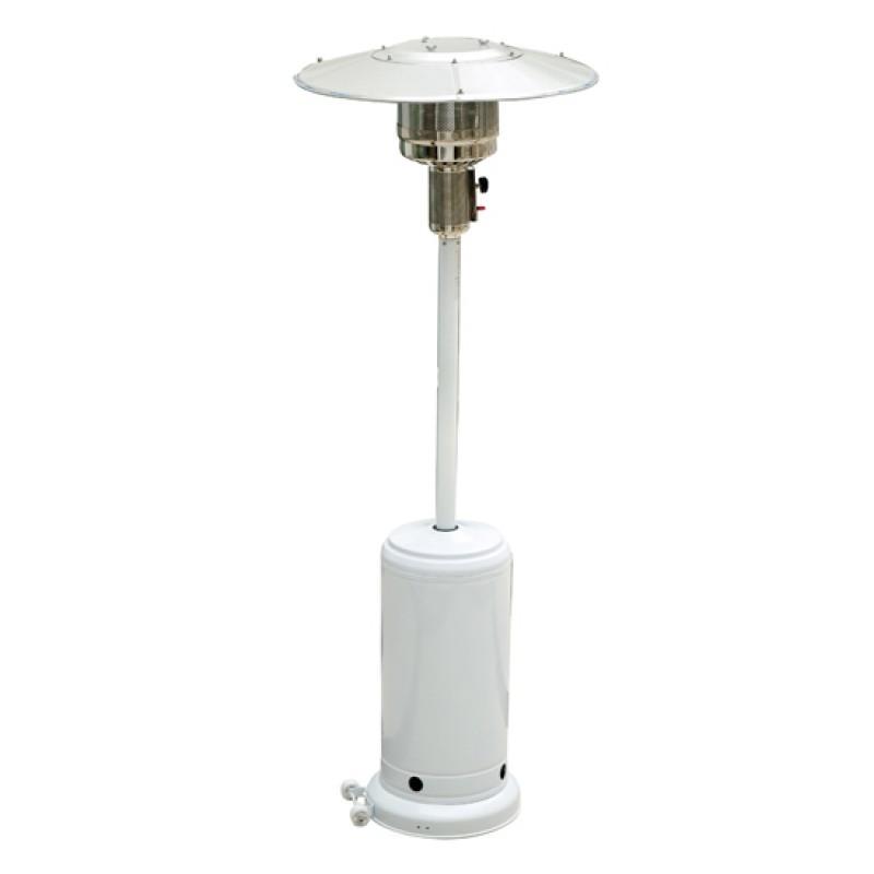 Zahradní tepelný plynový zářič bílý 5 - 12 kW GOLETO HEINZE 12WE