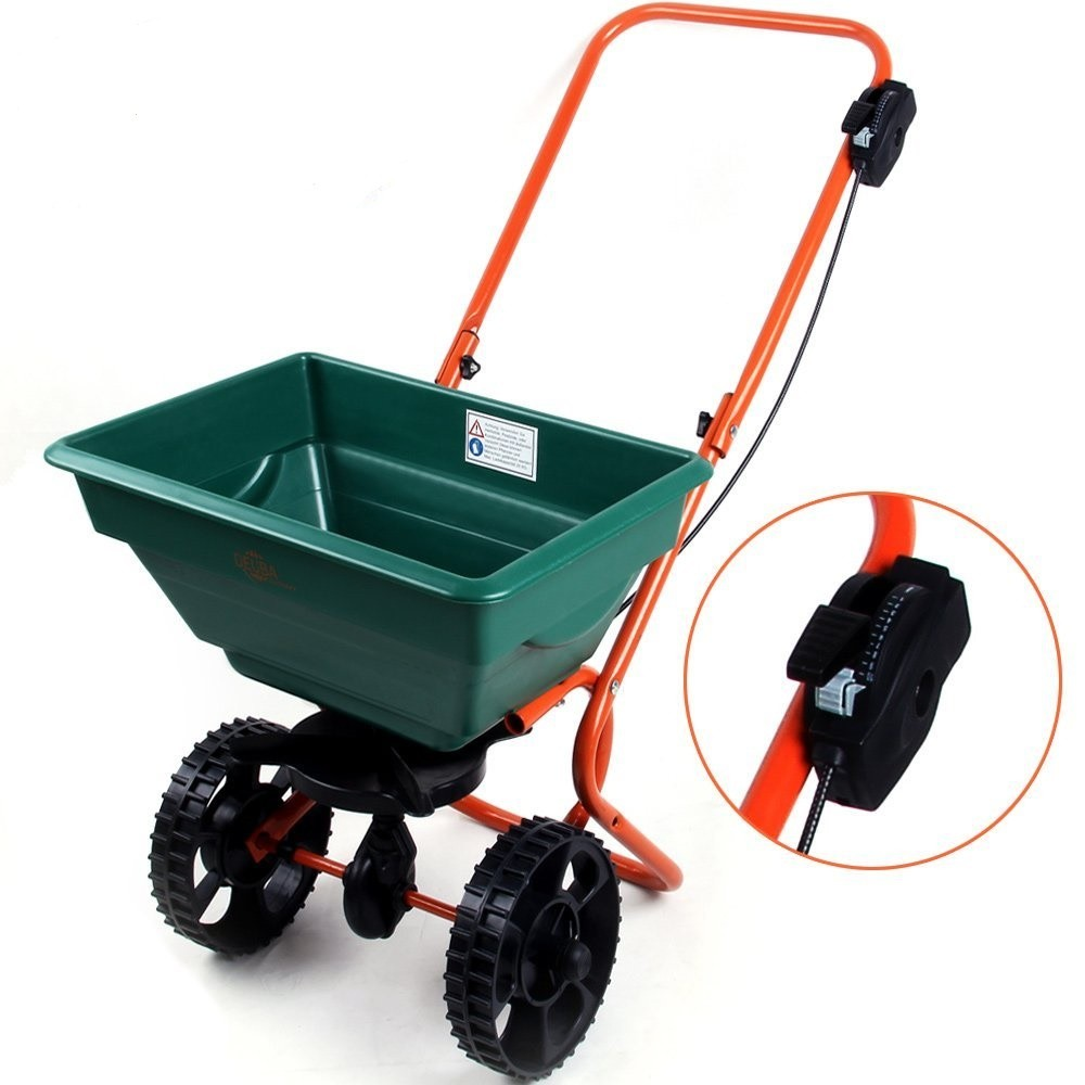 Goleto Rozmetací posypový vozík umělých hnojiv, osiva a soli 25l