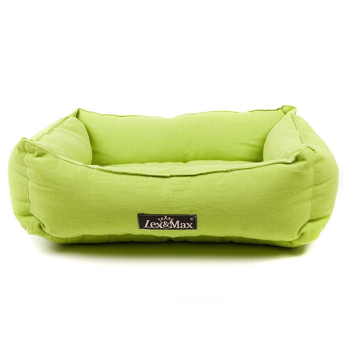 Lex & Max Luxusní pelíšek pro psa Lex & Max Tivoli 40 x 50 cm | zelený