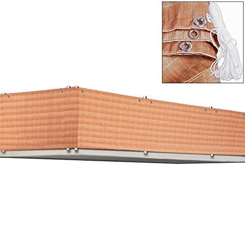 Balkonová stínící plachta 0,9 x 5 m | hnědá