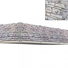 Balkonová stínící plachta 0,9 x 5 m   vzhled kameny č.1