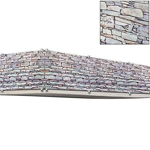 Balkonová stínící plachta 0,9 x 5 m | vzhled kameny