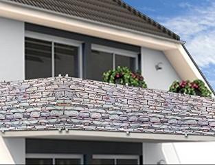 Balkonová stínící plachta 0,9 x 5 m   vzhled kameny č.2