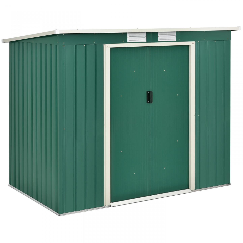 Goleto Zahradní domek se základnou M 213 x 130 x 173 cm | zelený