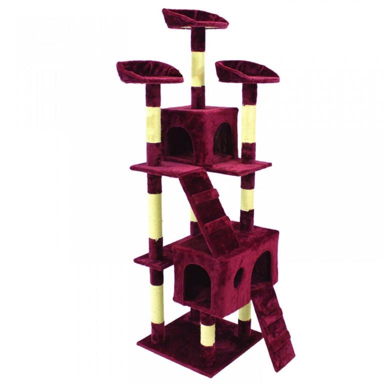Škrabadlo pro kočky 170x62x75 cm | vínové