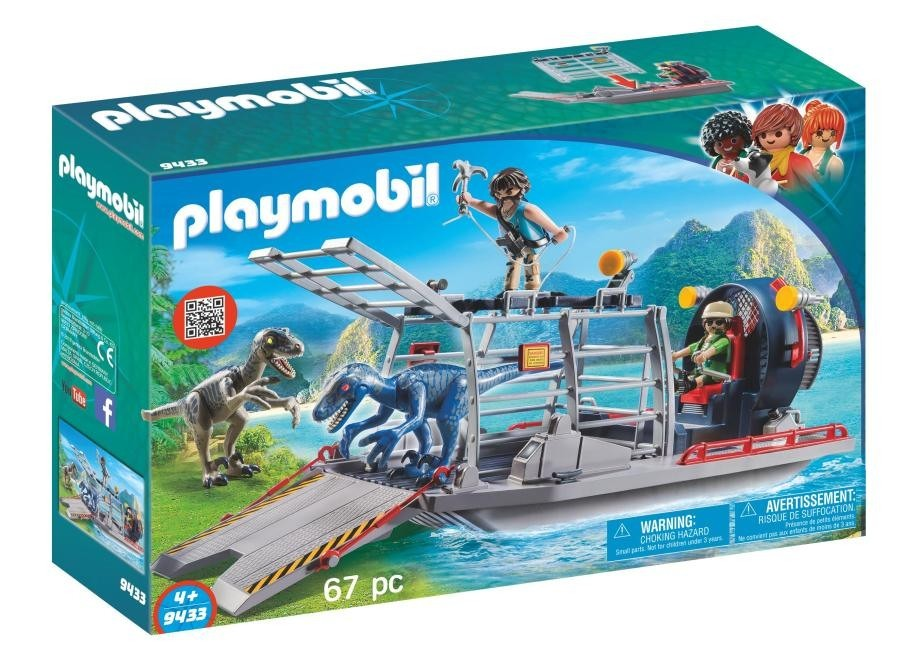 Playmobil Playmobil 9433 Člun s klecí na dinosaury