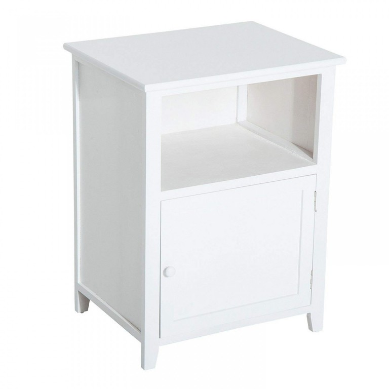 Dřevěný noční stolek Cairo | bílý