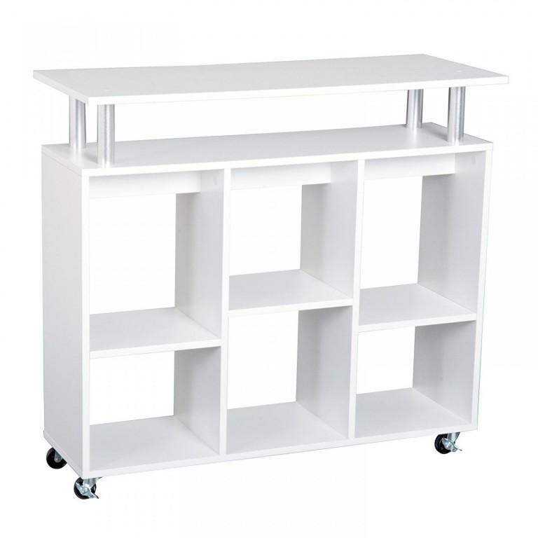 Pojízdná kuchyňská skříňka Olivia | bílá