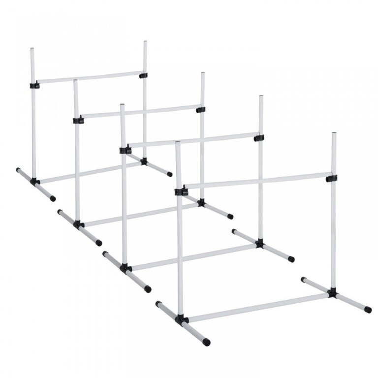 Agility překážky pro psy 95 x 65 x 95 cm  bílá