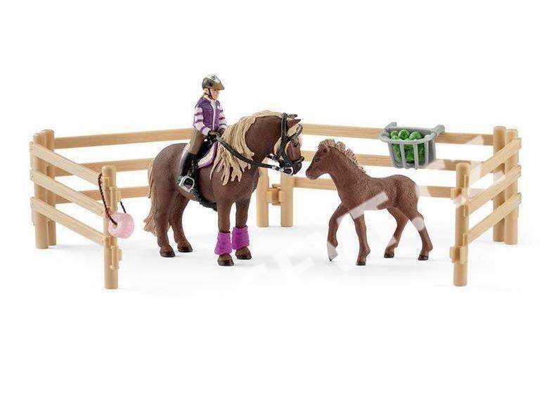 Schleich 42363 Jezdec s islandskými poníky a příslušenstvím